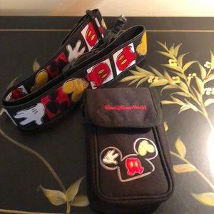 Disney camera case & strap